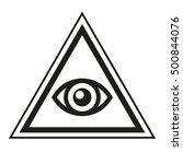 masonic symbol. all seeing eye... | Shutterstock .eps vector #500844076