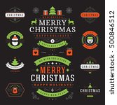 christmas labels and badges... | Shutterstock .eps vector #500846512