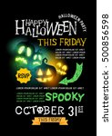 halloween party design  text... | Shutterstock .eps vector #500856598