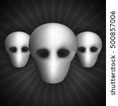 Alien Heads. Set Of Faceless....