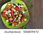 vegetable salad with feta... | Shutterstock . vector #500859472