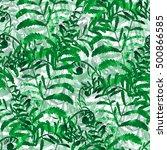 nature botanic floral seamless... | Shutterstock . vector #500866585