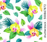 seamless vector pattern with... | Shutterstock .eps vector #500867872