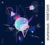 neon geometric composition   Shutterstock .eps vector #500872645