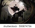 headless horseman. the hessian...   Shutterstock .eps vector #500874736