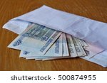 white envelope full of russian... | Shutterstock . vector #500874955
