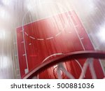 basketball court floor and hoop ... | Shutterstock . vector #500881036