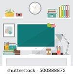 creative workspace. modern flat ... | Shutterstock .eps vector #500888872