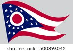 ohioan official flag  symbol.... | Shutterstock .eps vector #500896042