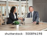 welcoming a new team member to... | Shutterstock . vector #500896198