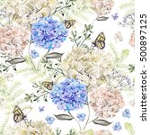 beautiful watercolor pattern... | Shutterstock . vector #500897125