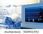 Small photo of Monitoring of patient's heart in intensive care unit.