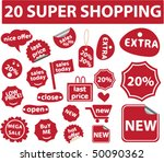 20 super shopping stickers.... | Shutterstock .eps vector #50090362