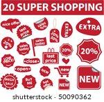 20 super shopping stickers.... | Shutterstock .eps vector #50090362