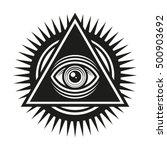 masonic symbol. all seeing eye... | Shutterstock .eps vector #500903692