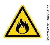 fire warning sign  vector... | Shutterstock .eps vector #500905195