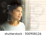 biometric verification  face... | Shutterstock . vector #500908126