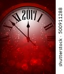 2017 new year red background... | Shutterstock .eps vector #500911288