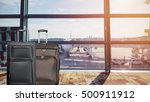 closeup group of luggage in the ... | Shutterstock . vector #500911912