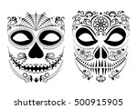 vector illustration halloween... | Shutterstock .eps vector #500915905