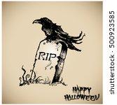 halloween vector collection... | Shutterstock .eps vector #500923585