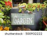 garden sign around flower   Shutterstock . vector #500932222