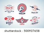 abstract vector fists logo set. ... | Shutterstock .eps vector #500937658