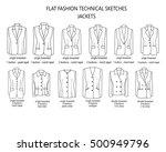 flat fashion sketch template  ... | Shutterstock . vector #500949796