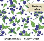 vector blueberry seamless... | Shutterstock .eps vector #500949985