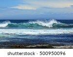 waves in atlantic coast. ocean... | Shutterstock . vector #500950096