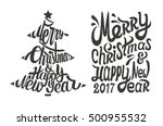 christmas tree with hand drawn... | Shutterstock .eps vector #500955532