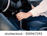 select focus handle gear stick... | Shutterstock . vector #500967292