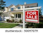 home for sale real estate sign... | Shutterstock . vector #50097079