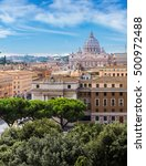 panorama of rome and basilica... | Shutterstock . vector #500972488