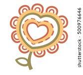 fabulous flower  heartfelt...   Shutterstock .eps vector #500976646
