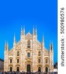 Famous Milan Cathedral  Duomo...