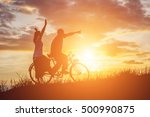 silhouette of sweet young...   Shutterstock . vector #500990875