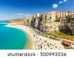 tropea town and beach  ...   Shutterstock . vector #500993536