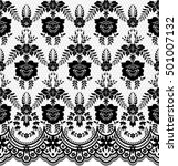 seamless lace pattern  flower... | Shutterstock .eps vector #501007132
