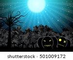 spooky pumpkin halloween... | Shutterstock .eps vector #501009172