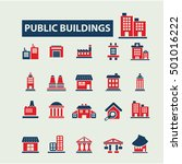 buildings icons  | Shutterstock .eps vector #501016222