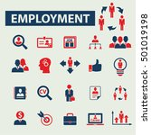 employment icons  | Shutterstock .eps vector #501019198