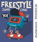 retro cassette  skater... | Shutterstock .eps vector #501030118