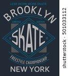 skate board typography  t shirt ... | Shutterstock .eps vector #501033112