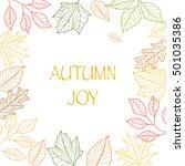 autumn joy frame   Shutterstock .eps vector #501035386