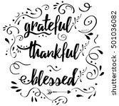 handwritten vector lettering... | Shutterstock .eps vector #501036082