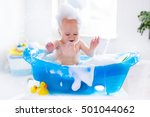 happy laughing baby taking a... | Shutterstock . vector #501044062