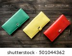 group colorful wallet of... | Shutterstock . vector #501044362