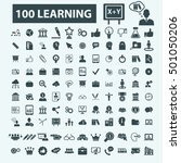 learning icons | Shutterstock .eps vector #501050206