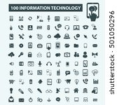 information technology icons | Shutterstock .eps vector #501050296